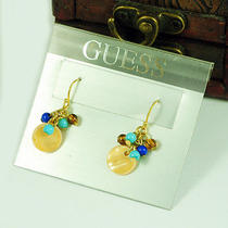 E780 Guess Cute Color Beads Freshwater Shell Earrings New on Card Photo