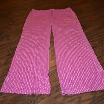 E9- Victoria's Secret Pink Polka Dot Lounge Pajama Pants Size Small Photo