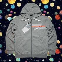 Ea7 Armani Sweatshirt Hoodie Emporio Mens Jacket Logo Full Zip Gray Hoody 2xl Photo