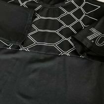 Ea7 Emporio Armani T Shirt in Black With White Pattern Print Photo