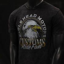 Eagle Head Motors Custom Ride Fast Express Mechanic Gear Head Classics Tshirt L Photo