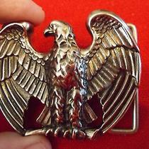 Eagle Mens Belt Buckle by Avon Pewter and Black in Color Nice  Photo