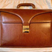 Early-90's Bally Leather Briefcase Attache Case Bag Unisex - Made in Italy Photo