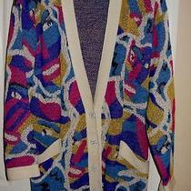 Early Missoni Vintage Knit Sweater Cardigan Italy Colorful Mod Print Beautiful Photo