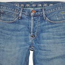 Earnest Sewn Lacoste Distressed Kyrre 331 Miller Taper Leg Jeans 30 X 31 1/4  Photo