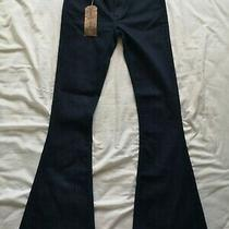 Earnest Sewn Women's Blue Farrah Flare Jeans Size 26 New With Tags Photo