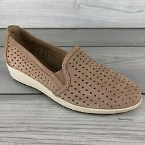 Earth Juniper Slip-on Wedge Summer Shoe Dark Blush Tan Brown Women's Size 9 B Photo