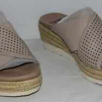Earth Origins Modena Marigold Blush Leather Slide Sandals Women's Size 6.5m New Photo