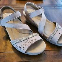 Earth Origins Women's Kendra Karla Wedge Sandals - Blush Size 8.5 With Box  Photo