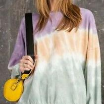 Easel Brand Anthropologie Tie-Dye Sweatshirt Oversized Medium M Photo