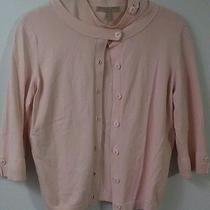 Easel Women Size S Sweater Twinset Cami & Cardigan Blush Color Rayon Nylon  Photo