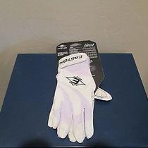 Easton Rampage David Ortiz Vrsii Wht Blk Batting Gloves Youth Unisex Sz  S New  Photo