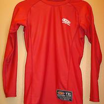 Easton Yxl  Easton Under Armour Red  All Sport Hockey  Long Sleeve Athletic Top Photo