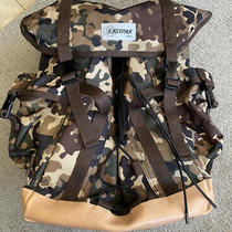 Eastpak X a.p.c. Big Backpack Camouflage Camo Vegetable Leather Accents Photo