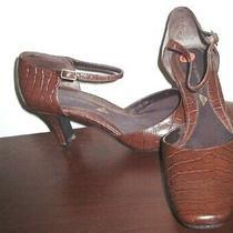 Easy Spirit Ladies Leather Moc Croc Pumps 3