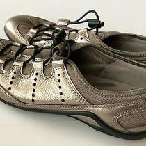 Ecco Toggle Flat Sneaker Shoes Metallic Rose Gold Women Sz 38athletic Slip On Photo