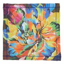 Echo Womens Cuba Bloom Print Square Scarf One Size White New Nwt 99 Nordstrom Photo