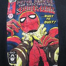 Ecko Unltd. Spider Man T-Shirt Marvel Peter Parker Comics Rhino Large Black Photo