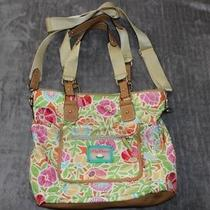 Eco-Friendly Lily Bloom Tropical Floral Large Purse Bag Handbag Handles Strap Photo