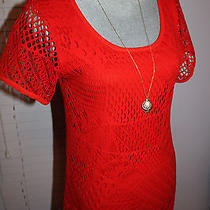Ecote Urban Outfitters Crochet Red Dress Photo