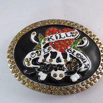 Ed Hardy by Christian Audiger Love Kills Slow Belt Buckle  Photo