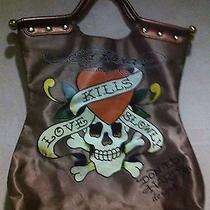 Ed Hardy by Christian Audigier Fabric Tote Bag Photo