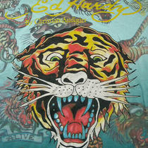 Ed Hardy by Christian Audigier King of the Wild T-Shirt (Size l) All-Over Tigers Photo