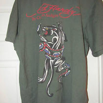 Ed Hardy by Christian Audigier Panther and Snake Print Men's Size Xl Photo