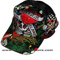 Ed Hardy Christian Audigier Motorcycle Biker Chopper Baseball Cap Hat Trucker  Photo