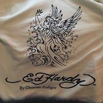 Ed Hardy Christian Audigier Womens White Surf Angel Zip Up Hoodies Size Xs  Photo