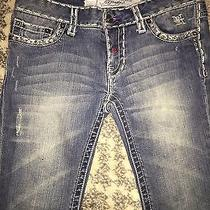 Ed Hardy Embezzled Studded Design White Label Jeans 29  Photo