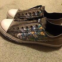 Ed Hardy Gray Women's Sneakers Size 7.5 Photo