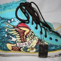  Ed Hardy Hi High Top Sneakersmens 12born Free Design Aqua Photo