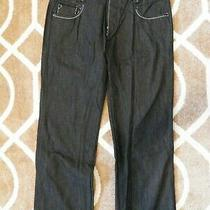 Ed Hardy Jeans Size 38 Length 34 Black Denim Embroidered Pocket Death Glory Photo
