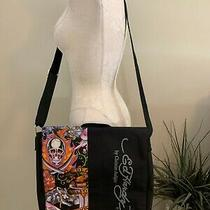 Ed Hardy Large Nylon Messenger Shoulder Bag Death Before Dishonor New  Photo