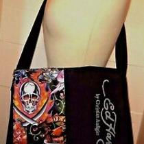 Ed Hardy Messenger Bag / Computer Tote / Tattoo Inspired Graphics Photo