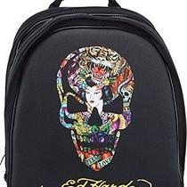 Ed Hardy Nina Skull Computer Case Backpack - Black Photo