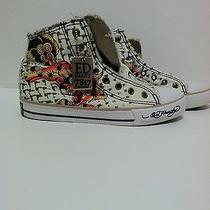Ed Hardy Shell Toe Shoes  Eagle Sneakers Girls Size 5 Chucks Photo