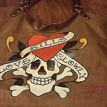 Ed Hardy Shoulder Purse and Name Tag Photo
