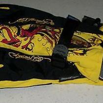 Ed Hardy Snow Gloves Ski Board Boogie Sled Winter Germany German Xmas M L Womens Photo