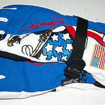 Ed Hardy Snow Gloves Ski Board Boogie Sled Winter United States Us. Flag Xmas Xl Photo