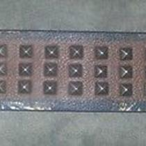 Ed Hardy Tiger Studded Leather Cuff Bracelet New Photo