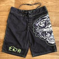 Ed Hardy Tiger Swim Trunks Board shorts.mens - Size 32 Photo