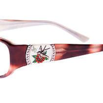 Ed Hardy Women's Eho-748 Bird Eyeglasses - Brown Photo