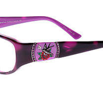 Ed Hardy Women's Eho-748 Bird Eyeglasses - Purple Photo