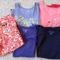 Eddie Bauer 5-Piece Lot of Tops Tanks - Size Med (10/12) Photo