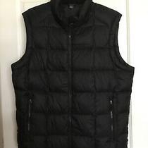 Eddie Bauer Black Puffer Vest Goose Down Size Large Photo