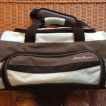 Eddie Bauer Blue-Aqua/black Travel Duffle Tote Luggage Gym Bag Carry-On Photo