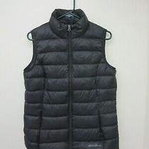 Eddie Bauer Eb650 Women's Cirruslite Down Vest Size M Black Msrp   79.99 Photo