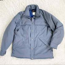 Eddie Bauer Gore-Tex Goose Down Blue Gray Puffer Insulated Jacket Coat Large Photo